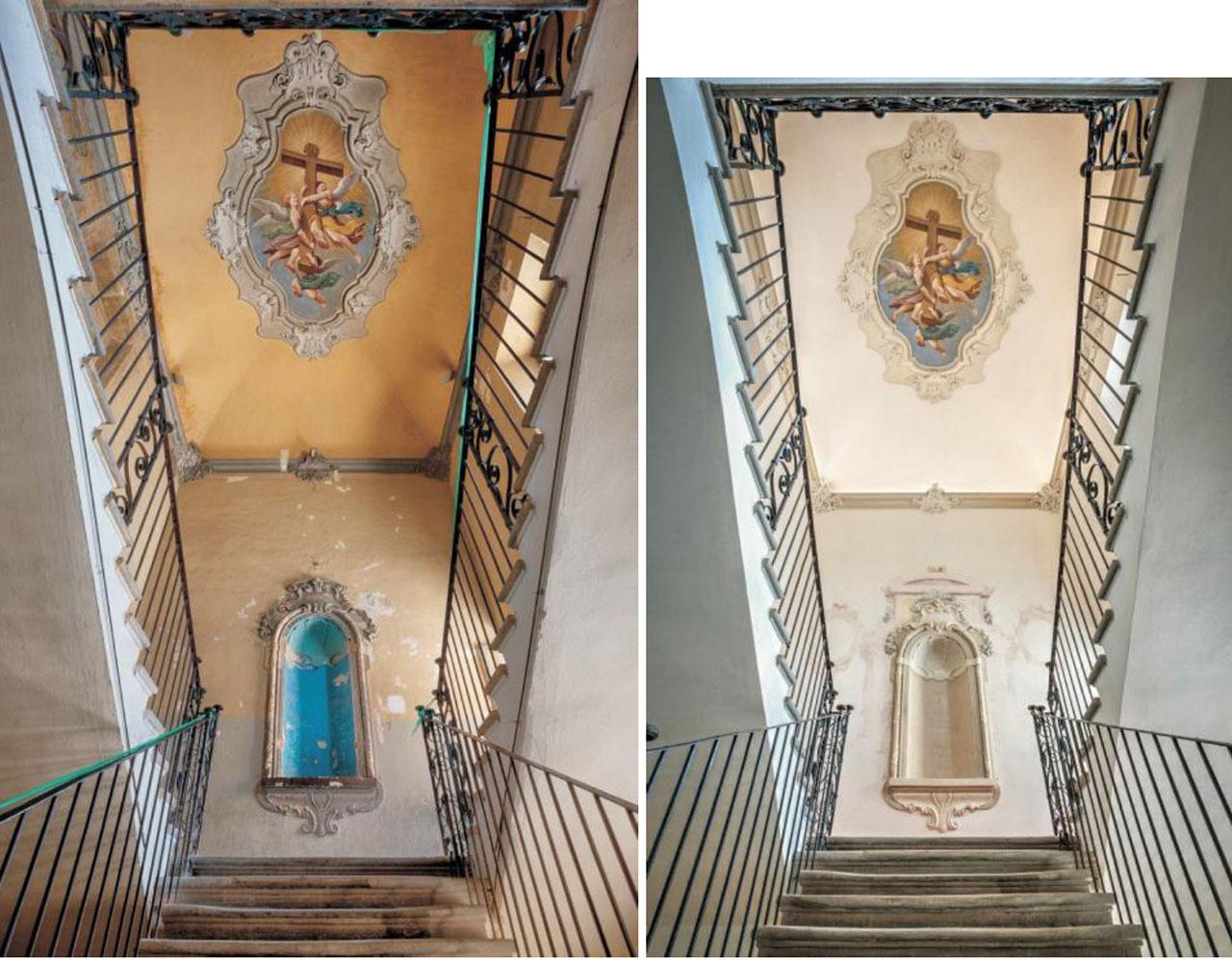 Restauro Scalone Monumentale Ex Convento Madri Orsoline in Fidenza 01