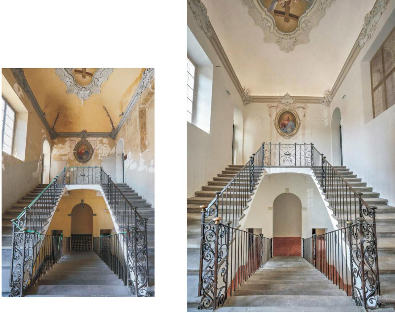 Restauro Scalone Monumentale Ex Convento Madri Orsoline in Fidenza 03