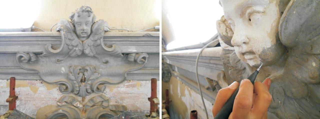 Restauro Scalone Monumentale Ex Convento Madri Orsoline in Fidenza 04